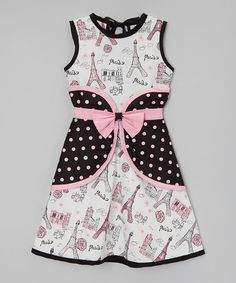 Another great find on #zulily! Black & Pink Eiffel Tower Bow Dress - Infant, Toddler & Girls by Little Miss Fashion #zulilyfinds
