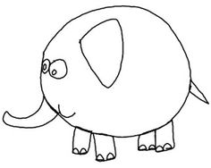 Easy Drawing Lessons For Preschool & Kindergarten: How to Draw a Funny Elephant Easy Step by Steps For Preschool and Kindergarten Kids Kindergarten Drawing, Preschool Kindergarten, Funny Elephant, Drawing Lessons For Kids, Directed Drawing, Drawing Activities, Drawing Journal, Jungle Animals, Step By Step Drawing