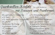 Elly's Art: Adventskalender 2013 - 24 - Quarkstollen-Konfekt mit Pistazien und Cranberries