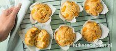 Basisrecept voor muffins met stukjes verse mango, ideaal als je niet veel tijd hebt!