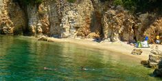 small beach near Syvota in north-western Greece Secluded Beach, Nude Beach, Athens, Greece, Explore, Landscape, World, North Western, Places