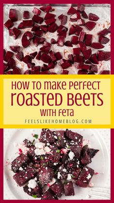 Oven Roasted Red Beets with Low Carb Balsamic Glaze and Feta Cheese - Healthy roasted red beets recipe with feta cheese - This healthy side dish is baked in the oven with oil and balsamic vinegar for perfect veggies, every time! Low carb and gluten free. #comfortfood #bariatriceating #gastricsleeve #gastricbypass #glutenfreerecipes #gluten-free Feta Cheese Recipes, Beet Recipes, Fun Recipes, Potato Recipes, Bariatric Eating, Bariatric Surgery, Balsamic Vinegar, Balsamic Glaze, Fresh Beets