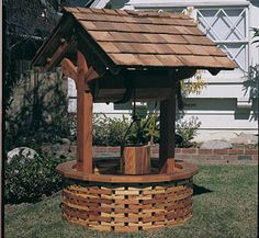 View a Larger Image of Woodworking Project Paper Plan to Build Wishing Well Wishing Well Garden, Wishing Well Plans, Unique Woodworking, Easy Woodworking Projects, Woodworking Plans, Workbench Plans, Woodworking Magazine, Woodworking Classes, Easy Wood Projects