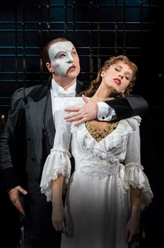 New images for The Phantom of the Opera at Her Majesty's Theatre London: Starring John Owen Jones as The Phantom, Celinde Schoemaker as Christine Daaé.