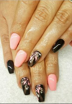 & Pink Nail Art Short Nails Art In 2019 Pink Nail Art . Nail Art e-art nail design budapest Long Cute Nails, Trendy Nails, Pink Nail Art, Flower Nail Art, Pink Art, Art Nails, Nail Designs Spring, Gel Nail Designs, Nails Design