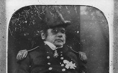 Sir John Franklin, 1845. The photograph shows the explorer in his military uniform in 1845. This must have been taken just before his departure on the doomed expedition.