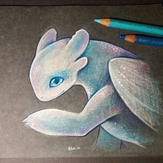 "Did you see a first official poster of new ""How to train your dragon"" ? There will be a shiny white dragon with blue eyes. Can't stop…"