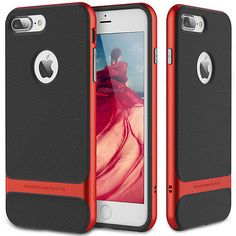 For Apple iPhone 7 / 7 Plus Hybrid Shockproof Bumper Rubber Case +Glass Screen
