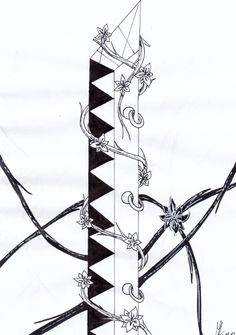 Yaay :3 I#m quiet bad at drawing words but i think it went out well... :3 #Inktober#Inktober2017#Sword