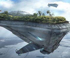 "Symbiont World- carrier class ship ""Genesis Nova"" By Przemek Duda #archifuture #science #scifi #alien #architecture #archdaily #nerd #art #illustration #fantasy #photography #artist #instadaily #instagood #3d #render #archilovers #future #travel #space #spaceship #city #fantascienza"