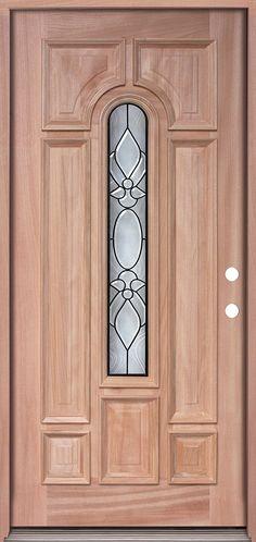 Center Arch Mahogany Prehung Wood Door Unit #UM58     Amazon.com