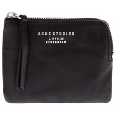 ACNE 'Pouch' wallet ($110) ❤ liked on Polyvore featuring bags, wallets, fillers, accessories, clutches, black, black wallet, pouch wallet, black bag and acne studios