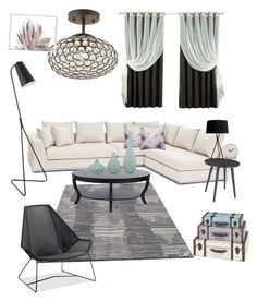 """""""My Liveing room"""" by senguel-a on Polyvore featuring interior, interiors, interior design, Zuhause, home decor, interior decorating, I Love Living, M&Co, Santa & Cole und Thos. Baker"""