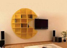 Pacman shelves #geek #home #design