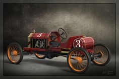 Vintage automobile prints, RAJO Speedway Racer modeled in SolidWorks, rendered in KeyShot by Bill Gould. Prints on x Moab Exhibition Luster 300 weight media. Vintage Racing, Vintage Cars, Antique Cars, Classic Sports Cars, Classic Cars, Flat Track Racing, Racing Helmets, Sprint Cars, Pedal Cars