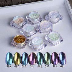 1 Box Chameleon Glitter Powder Dust Nail Art Chrome Pigment Shimmer Nail Glitter for DIY Nail Decorations Acrylic Nail Art, Glitter Nail Art, Nail Art Diy, Cool Nail Art, Diy Nails, Glitter Mirror, Glitter Tattoos, Diy Mirror, Chrome Nail Art