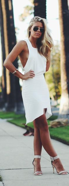 Stylish white dress