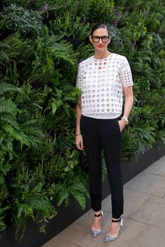 J.Crew Embraces Diffusion Method This top would look great with pants or over a dress to change the look.