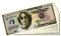 Beatles John Lennon Novelty Million Dollar Bill - 25 Count with Bonus Clear Protector and Christopher Columbus Bill *** This is an Amazon Affiliate link. You can get more details by clicking on the image.
