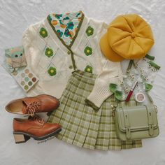 Retro Outfits, Cute Casual Outfits, Cute Fashion, Fashion Outfits, Oui Oui, Looks Vintage, Alternative Fashion, Aesthetic Clothes, Korean Fashion