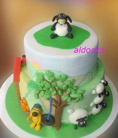 Shaun the Sheep theme - Cake by Alena