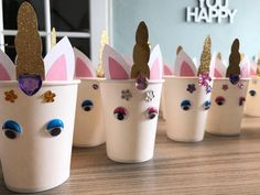 new Ideas cupcakes birthday school Wedding Cakes With Cupcakes, Fondant Cupcakes, Fun Cupcakes, Cupcake Cakes, School Cupcakes, Birthday Snacks, Birthday Cupcakes, Birthday Recipes, Unicorn Party