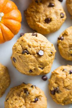 The BEST, soft and cakeypumpkin chocolate chip cookies! My favorite easy fall cookie recipe. Pumpkin Chocolate Chip cookies are not just mine and Jeff's favorite fall cookies, they just may be my