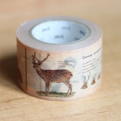 Animal washi tape MT ex Wide Washi Tape by mt by foxandstar