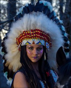 Elexis Reigns Indian Headdress 2 by Randy Dorman