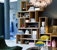 stacked OSB shelves from Sköna hem / photo Sanna Lindberg Style At Home, Diy Casa, Ideas Hogar, Scandinavian Home, Home Fashion, Home Organization, Interior Inspiration, Home Remodeling, Living Spaces