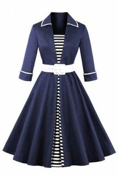 2018 Autumn Black Striped Women Long Sleeve Vintage Dresses Plus Size Belts Audrey Hepburn Rockabilly Dress Source by Dresses Long Sleeve Vintage Dresses, Plus Size Vintage Dresses, Plus Size Dresses, Sleeve Dresses, Pretty Dresses, Beautiful Dresses, Awesome Dresses, Casual Dresses, Fashion Dresses