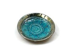 RAKU POTTERY Lotus  Offering Bowl  Handmade Ceramic by DeBaunFineCeramics on Etsy
