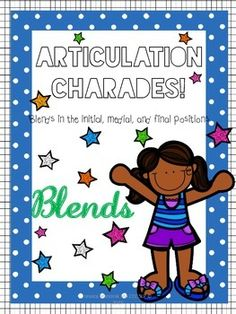 This download includes 146 pictures to use in a game of articulation charades for the BL, FL, GL, KL, PL, SL, BR, DR, FR, KR, TR, GR, PR, SK, SM, SN, SW, ST, and SP blends!No planning necessary!It also includes a directions page, and three different scoring sheets for two, four, or six players.