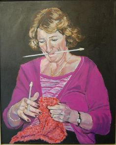 """Three handed Knitting?"", John Hunter / P-O"