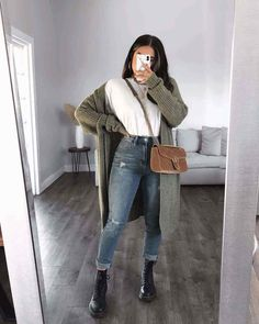 Trendy Fall Outfits, Cute Comfy Outfits, Casual Winter Outfits, Winter Fashion Outfits, Stylish Outfits, Fall Fashion, Winter Outfits For Girls, Modern Outfits, Summer Girls
