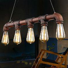 Gloss industrial cast iron hose 3 bulbs