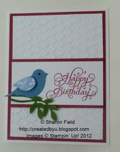 beautiful birthday bird card by sharonstamps - Cards and Paper Crafts at Splitcoaststampers