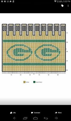 GREEN BAY PACKERS BOTTLE COVER Plastic Canvas Crafts, Plastic Canvas Patterns, Tissue Box Covers, Tissue Boxes, Football Crafts, Water Bottle Covers, Greenbay Packers, Nfl Green Bay, Can Holders