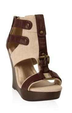 Deb Shops open toe platform #wedge