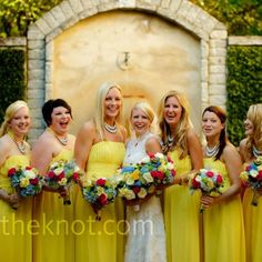 Hello Yellow: Bright Wedding Details Yellow Bridesmaid Dresses – The Knot