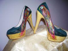 Scarpe dipinte a mano con colori specifici per tessuti N°37 colore Pagina facebook:SimonC art Spese di spedizione gratuite
