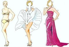 Marilyn Monroe paper doll / casitadepapel.wordpress.com