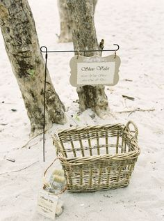 Brush the sand from your toes beach wedding ideas shoe valet | Jenna McElroy Photography
