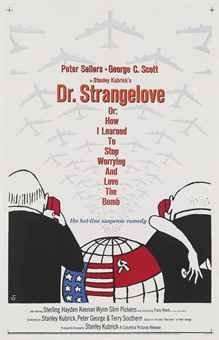 Strangelove or: How I Learned to Stop Worrying and Love the Bomb Directed by Stanley Kubrick Starring: Peter Sellers and George C. Scott, and featuring Sterling Hayden, Keenan Wynn, and Slim Pickens. Iconic Movie Posters, Cinema Posters, Iconic Movies, Great Movies, Popular Movies, Concert Posters, Stanley Kubrick, Dr Strangelove Movie, Vintage Posters