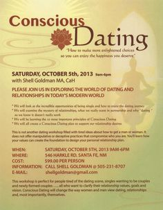 Santa Fe, NM Join us in exploring the world of dating and relationships in today's modern world. This workshop is perfect for people tired of the dating scene, singles wanting to be couples and newly formed co… Click flyer for more >>