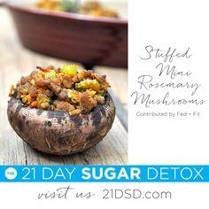 21DSD Recipe: Stuffed Mini Rosemary Mushrooms   The 21-Day Sugar Detox by Diane Sanfilippo