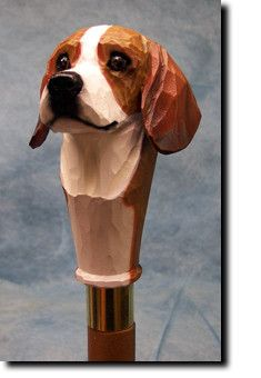 Beagle Dog Walking Stick Our unique selection of handpainted Dog Breed Walking Sticks is sure to please the most discriminating Dog Lover! Be the envy of everyone with this unique canine walking stick