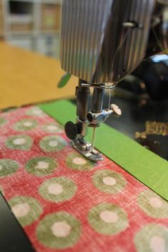 I love this trick! Learn our trick to sewing straight with a sewing guide.