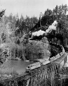 Railroad Bridge, Railroad Tracks, Logging Equipment, Milwaukee Road, Port Angeles, Forest Pictures, Old Trees, Felder, Landscape Wallpaper