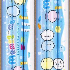 blue Mamegoma seals pencil with cute sea animals